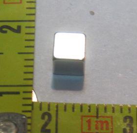 Магнит куб неодимовый 6х6х6 мм